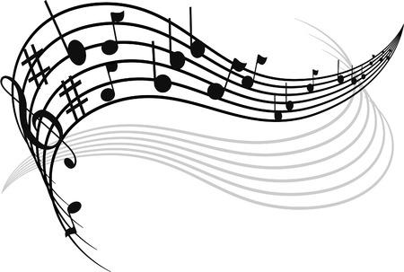 Décoration de notes de musique