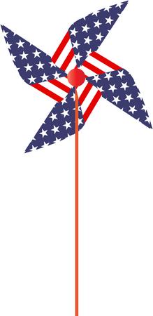 USA flag toy windmaill Illustration