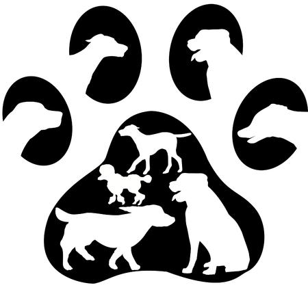Dog paw print logo