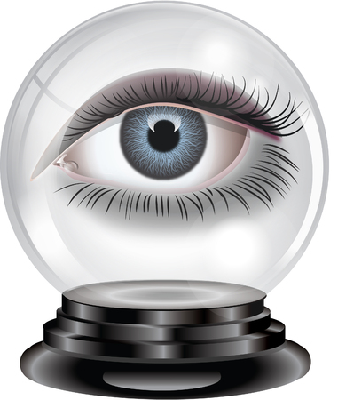 Crystal ball with eye Illustration