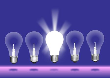 Concept Glowing Light Blub