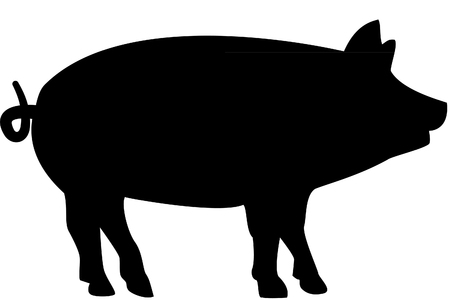 squealer: Pig silhouette