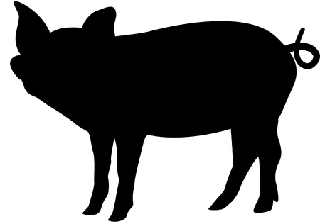 pigsty: Pig silhouette