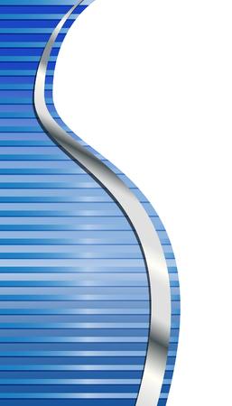 Blauwe en zilveren grens Stock Illustratie