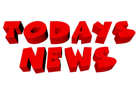 Todays news 3D lettering