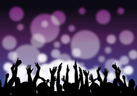 Nightclub crowd Ilustração