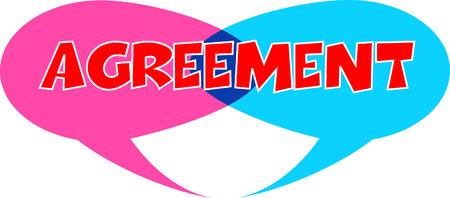 Agreement speech bubble