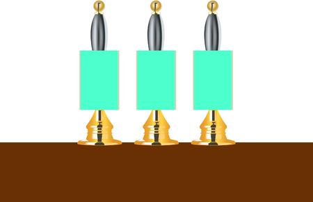 Beer pumps Illustration