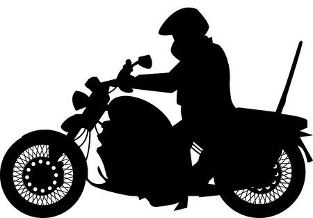 Motorbike and rider