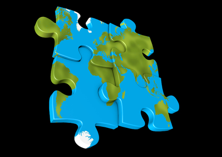 Jigsaw globe Stock Photo
