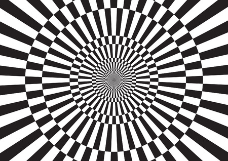 Black and white illusion pattern
