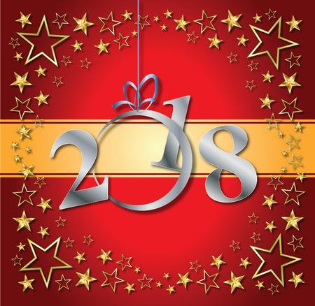 2018 new year background Illustration