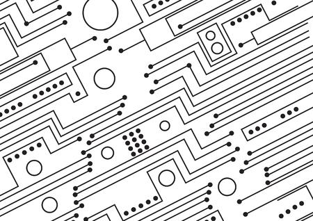 Circuit board Vector illustration.