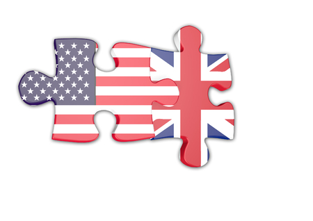 politic: USA and UK  jigsaw Stock Photo