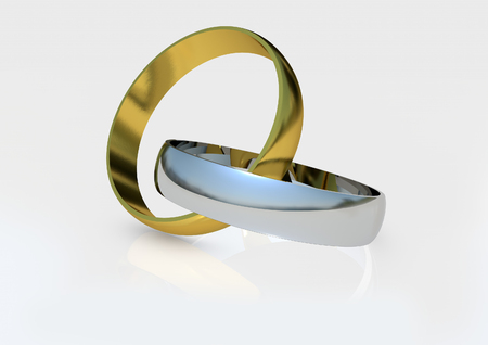 Gold Silver Wedding rings