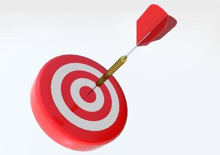 Target with dart Stock Photo