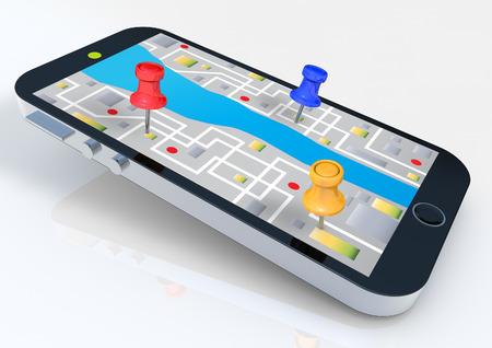 Smart phone con mappa