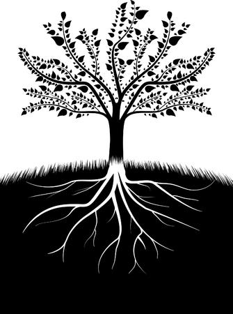 Illustrazione vettoriale di sagoma albero.