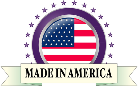 Made in America Vector illustration. Ilustrace