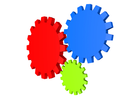 Coloured cogs Stock Photo
