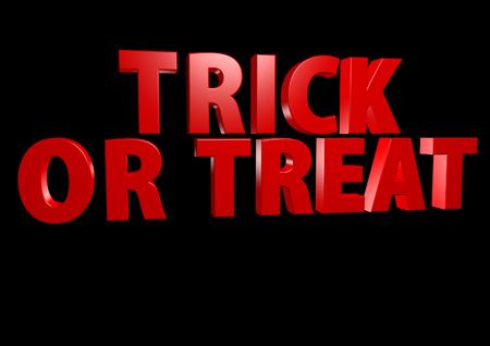 october 31: Trick or Treat 3D render