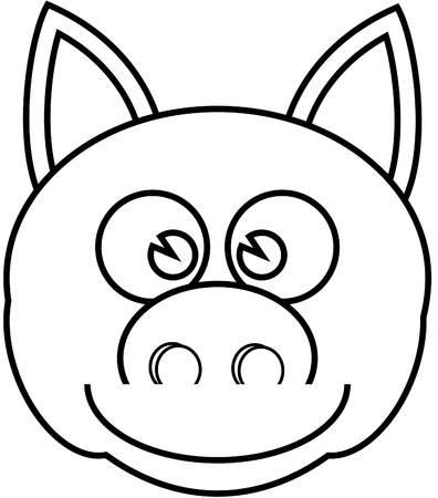 Children Coloring Book Pig. Royalty Free Cliparts, Vectors, And ...