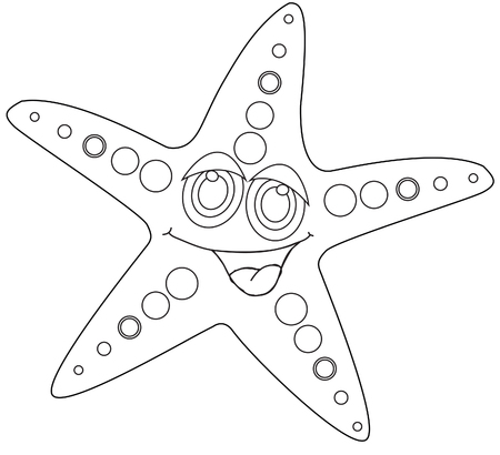 childrens coloring book starfish