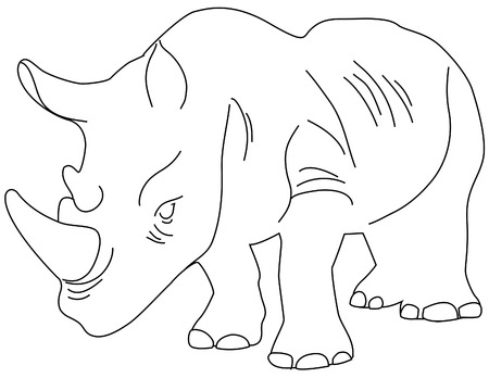 childrens coloring book Rino