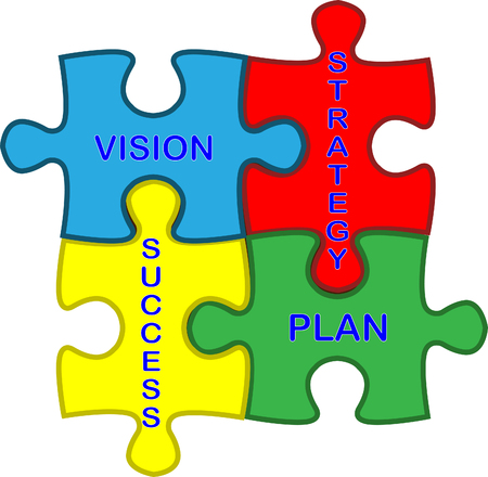 Vision strategy plan success jigsaw