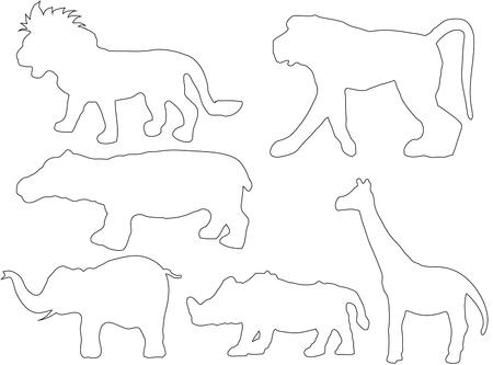Kleurboek voor kinderen Wilde dieren