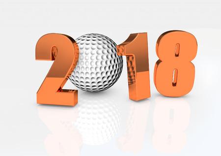 2018 Golf ball 3D render