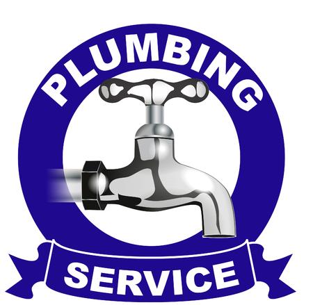 Plumbing services logo Banque d'images