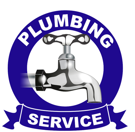 Plumbing services logo Stock Photo