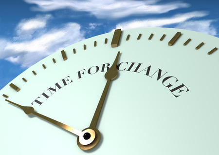 Time for change clock face