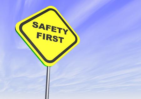 Safety First Sign Stok Fotoğraf