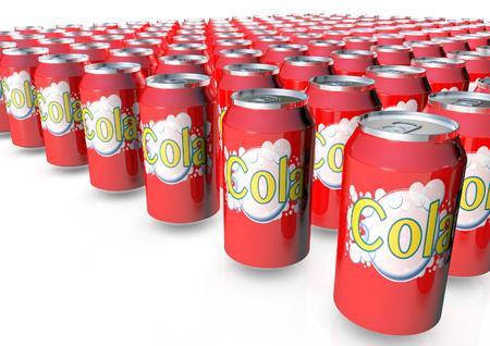 Rendement 3D de canettes de Cola Banque d'images - 90931732