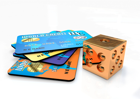 Credit cards 3D render Stock Photo