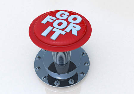 Go for it Button 3D render