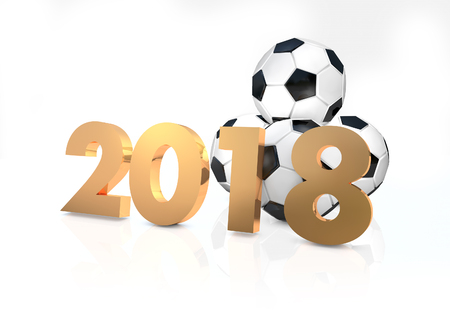 2018 Football 3d render Stock Photo