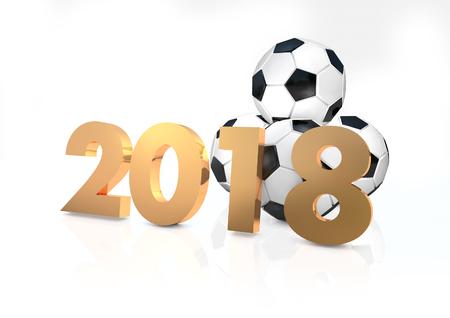 2018 Football 3d render Stok Fotoğraf