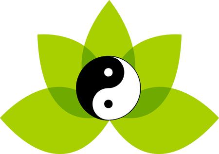 Lotus Flower symbol Stock Photo