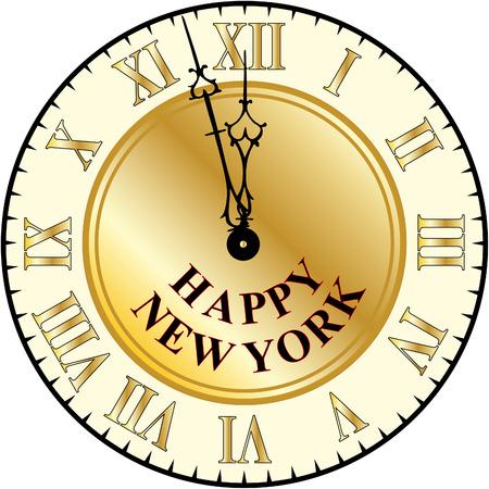 Happy new year clock Illustration