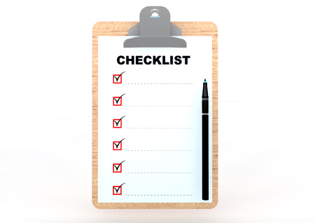 Clip board with checklist