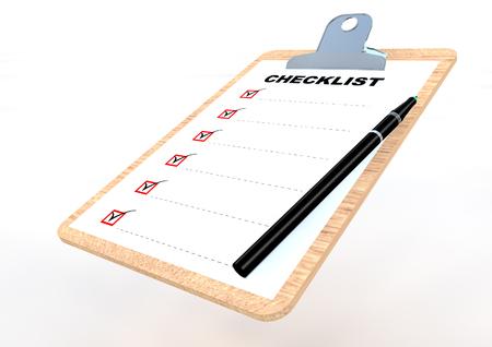 Clip board 3D render