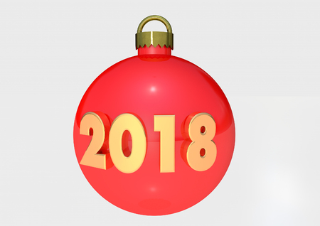 2018 Bauble 3D render