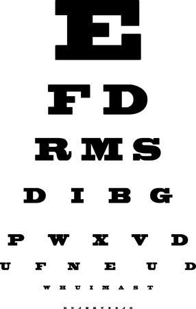 Eye chart  イラスト・ベクター素材