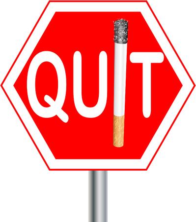 Quit smoking sign