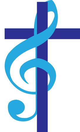Cross and treble clef