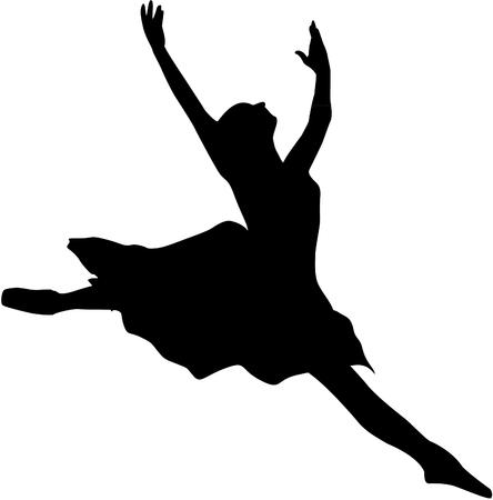 ballet dancer silhouette Vettoriali