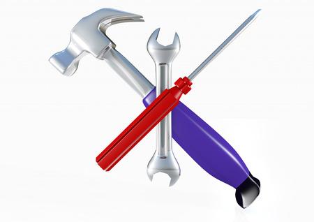 Hammer screwdriver spanner logo